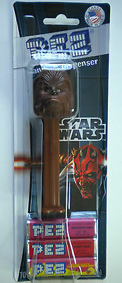 PEZ Chewbacca Candy Dispenser New On Star Wars Card