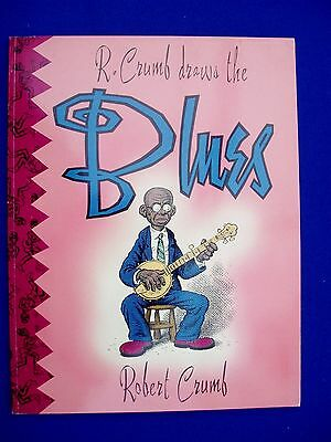 R Crumb Draws The Blues. (1992). VFN/NM. Including original press release.