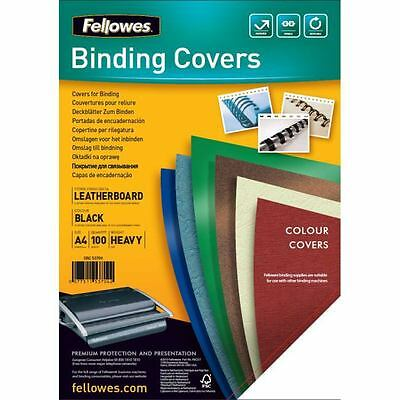 Fellowes 5370405 -  Binding Covers Delta Coverboard 270gsm A4 BK PK100