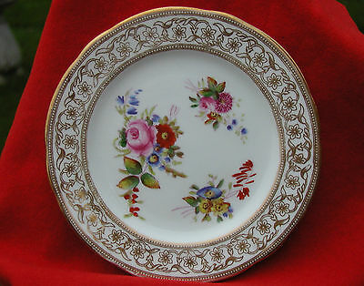 Antique Hand Painted Colourful Porcelain Plate Hammersley & Co Longton