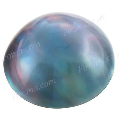 16MM 8CT BLUE GREY MABE SOUTH SEA LOOSE pearl