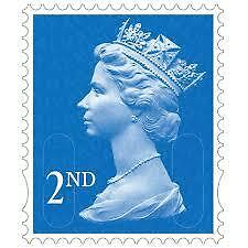 UNFRANKED STAMPS 100 x 2nd CLASS (OFF PAPER) FV £55.00