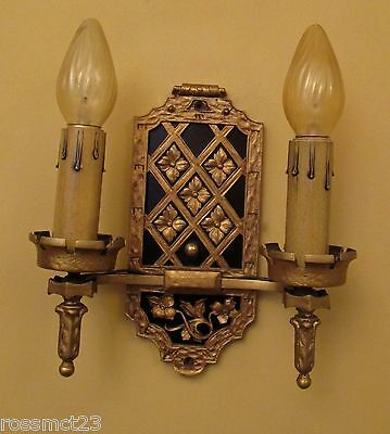 Vintage Lighting matched pair circa 1930 Spanish Revival high quality sconces