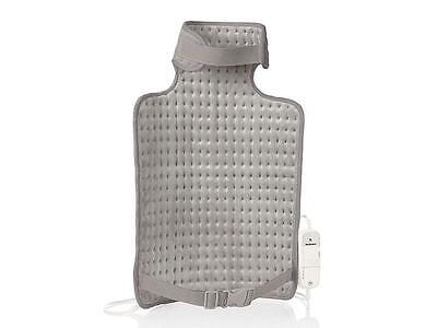 Electric Heated Heat Pad Back & Neck Warmer Grey 6 Settings Free Postage
