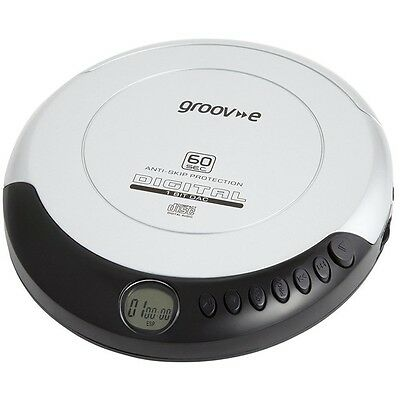 Groove Retro Series Personal CD Player Compact Disc Discman Silver