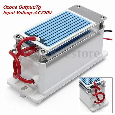 7g/h Ozone Generator 220V Water Plant Air Cleaner With Ceramic Plate Tube DIY