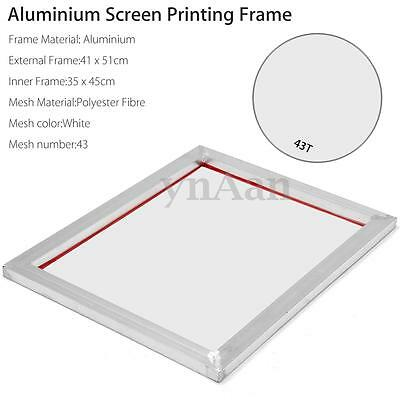 41 x 51cm A3 Screen Printing Aluminium Frame Stretched With 43T Silk Print Mesh
