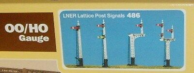 Ratio 486 - LNER Lattice Post Signals Kit - New. (00) Plastic Kit.