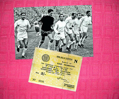Real Madrid 1960 Champions Cup Winners Photo + Ticket