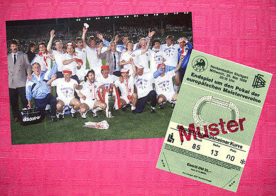 Psv Eindhoven 1988 Champions Cup Winners Photo + Ticket Repro
