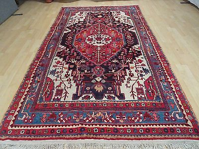 """Large PERSIAN CARPET RUG HAND MADE Vintage antique Traditional 8ft 11"""" x 5ft 4"""""""