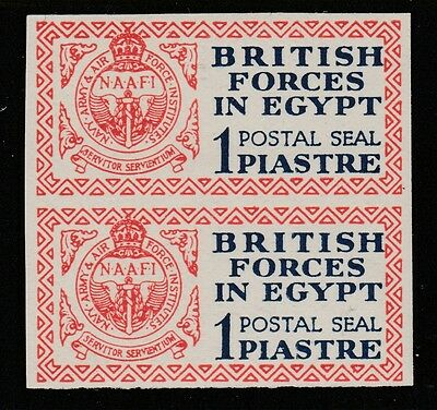 Egypt (121) 1932 British Forces 1p IMPERF PAIR superb unmounted mint SG A1var
