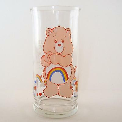 CARE BEARS Glass CHEER BEAR Tumbler Pizza Hut LIMITED Collector's Vintage 1983