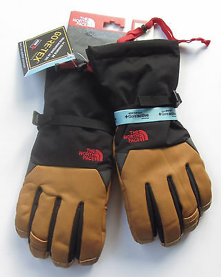 New $160 North Face Kelvin Ski Gloves Insulated Leather Gore-Tex Unisex L Large