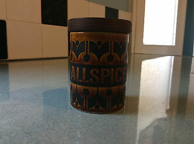 Vintage Brown Hornsea Allspice Container