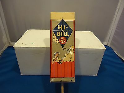 HI BILL vtg ice cream carton advertising atlas label pushup fying kite