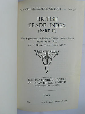 Cartophilic Reference Book 27.British Trade Index(Part II).Hardcover.1969.Lyons.