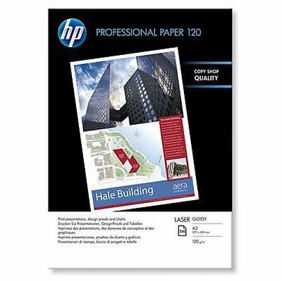 Hp Cg969A - Professional Glossy Laser Paper - 120 Gsm-250 Sht/a3/297 X 420 Mm
