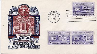 First day cover, Sc #991, Judicial, Planty 991-6, Cachetcraft/Staehle, 1950
