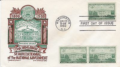 First day cover, Sc #990, Executive, Planty 990-6, Cachetcraft/Staehle, 1950