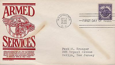 First day cover, Scott #940, Honorable Discharge, Planty 940-28, Anderson, 1946