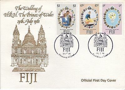 First day cover, Fiji, Royal Wedding, Charles & Diana, 1981