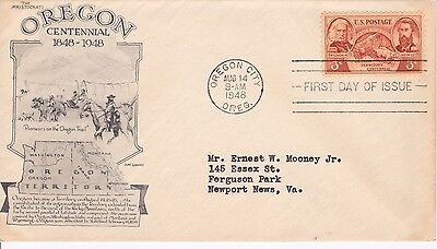 First day cover, Scott #964, Oregon, Aristocrat (Day Lowry), 1948