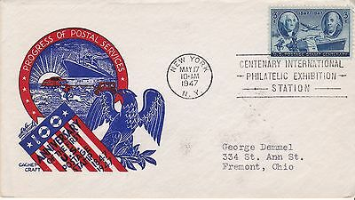 First day cover, Scott #947, Stamp Centenary, Cachetcraft/Staehle cachet, 1947