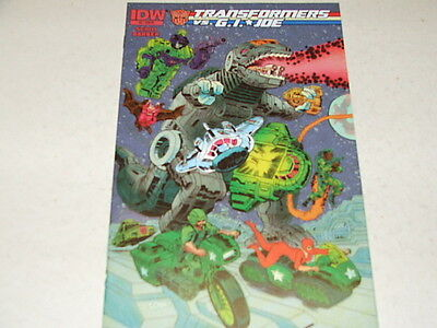 Transformers Vs GI Joe 2 RETAILER INCENTIVE 1:10 VARIANT (IDW Comics) Aug 2014