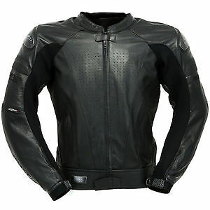 RST Black Series Leather Motorcycle Jacket Uk 42 ***Now Only £160.00***