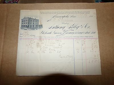 1883 Anthony Kelly & Co Wholesale Grocers Minneapolis MN Letterhead