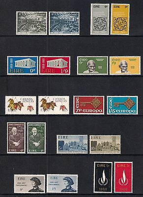 Ireland Eire stamps - 35 mint stamps from the late 1960's, MNH (2 scans)