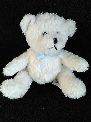 Lands End White Bear With Rattle