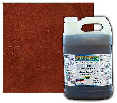 Professional Easy to Apply Concrete Acid StainRich Mahogany - 1 Gallon