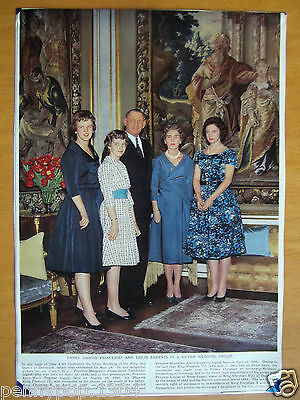 T.r.h. King Frederick Ix & Queen Ingrid Of Denmark And Their Three Princesses