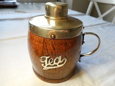 Antique Wooden Tea Caddy with EPNS top