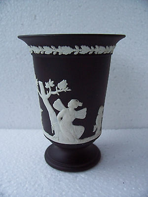 Wedgwood Black  jasperware  vase in excellent condition