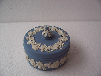 Wedgwood   Blue jasperware  Small Trinket box in excellent condition.