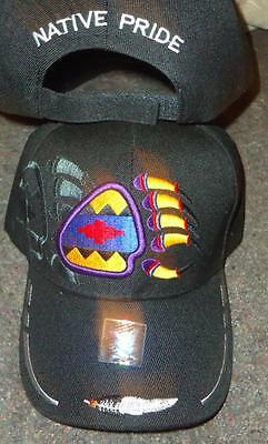 Native Pride NDN New Embroidered Black Bear Claw Clan Ball Cap Hat