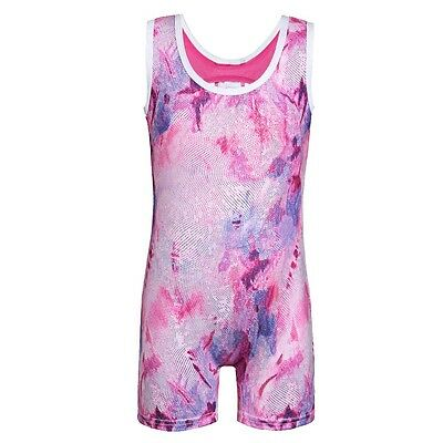 NEW Acrobatic Dance Gymnastics Unitard 1 Piece Short  Youth Fits 4 - 5 years old