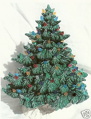 "16 1/2"" Frazier Fir Green Christmas Tree W/base        Ceramic Glazed"