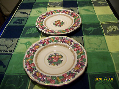 Two Crown Ducal Florentine tea/side plates