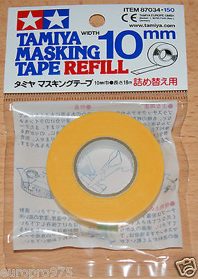 Tamiya 87034 Masking Tape Refill 10mm Width, 18m Length, for RC Body Shells NIP