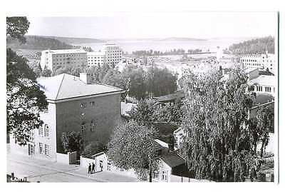 Finland Finnish Town View Lahti Photo PC 1953 Sent to Netherlands