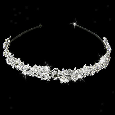 Princess Wedding Bridal Prom Party Crystal Flower Hair Band Headband Tiara