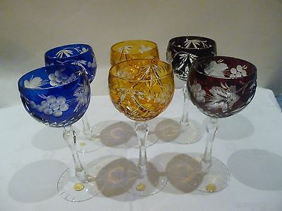 Echt Bleikristall German wine glasses set of six