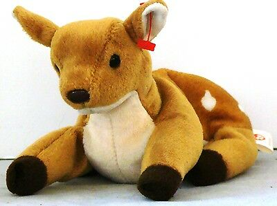 EUC Adorable TY Beanie Baby WHISPER the FAWN Deer 1998