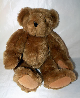"""Vermont Jointed Teddy Bear Plush 16""""  *Handcrafted/Vermont - Excellent Condition"""