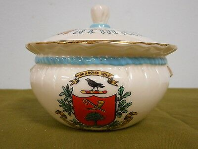 Vintage W. H. Goss White Marmalade Dip Lidded Crest Wood Notes Wild Arms Burns