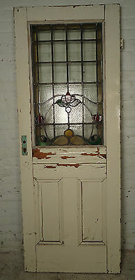 Vintage English Stained Glass Door